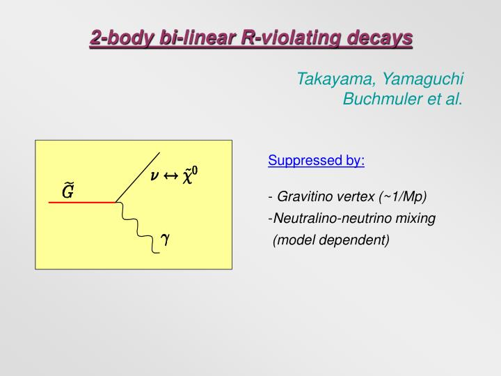 2-body bi-linear R-violating decays