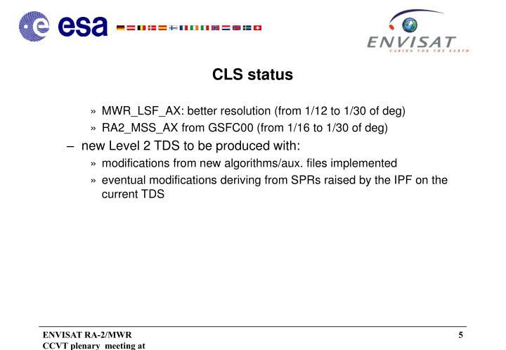 CLS status