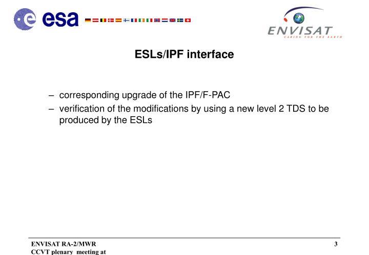 ESLs/IPF interface