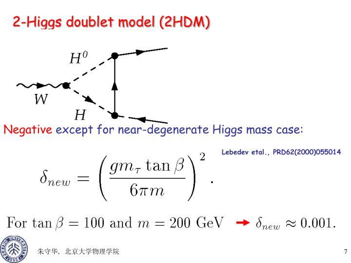 2-Higgs doublet model (2HDM)