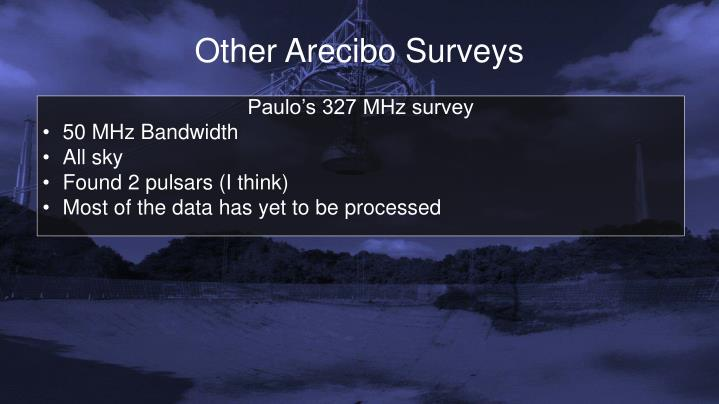 Other Arecibo Surveys