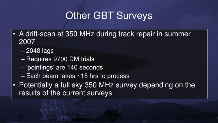 Other GBT Surveys