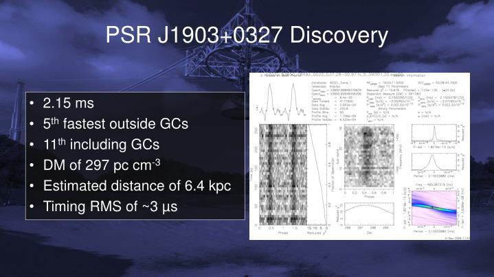 PSR J1903+0327 Discovery