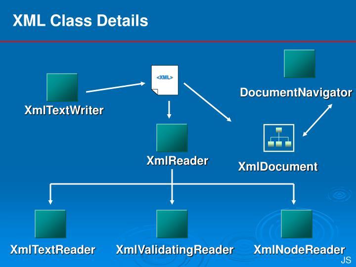 XML Class Details