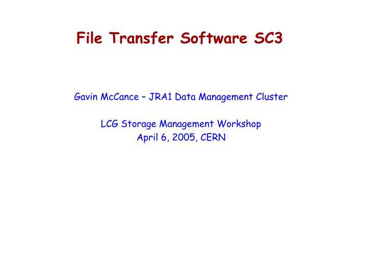 File Transfer Software SC3
