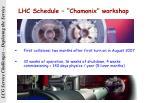 lhc schedule chamonix workshop
