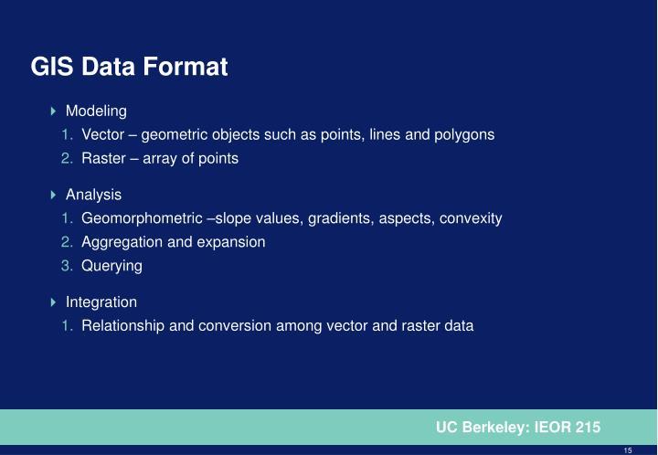 GIS Data Format