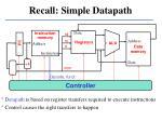 recall simple datapath