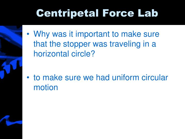 Centripetal Force Lab