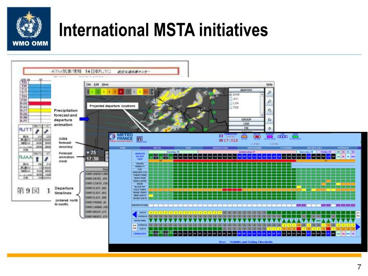 International MSTA initiatives