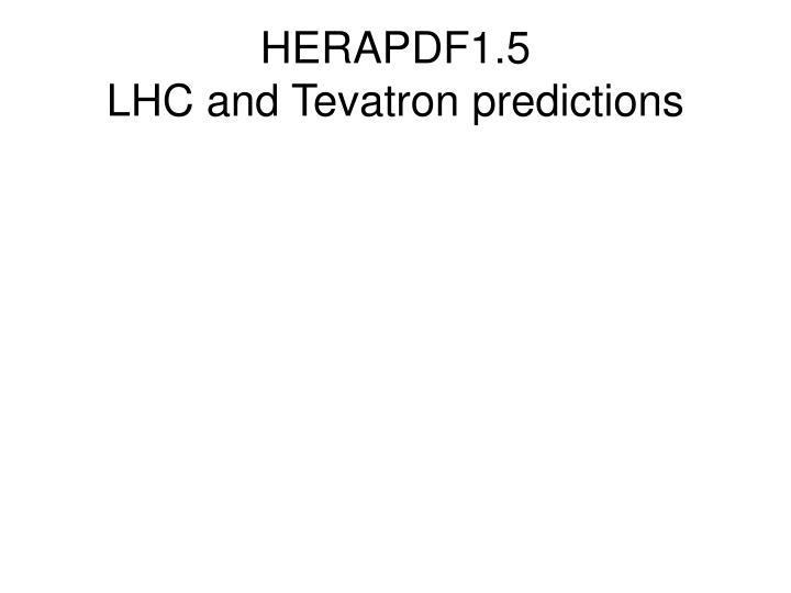 HERAPDF1.5