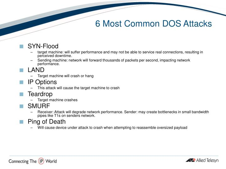 6 Most Common DOS Attacks
