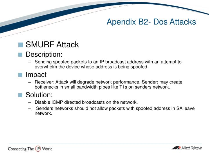 Apendix B2- Dos Attacks