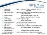 appendix a1 acl parameters