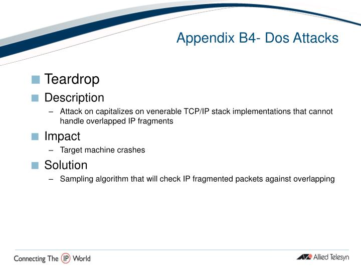 Appendix B4- Dos Attacks