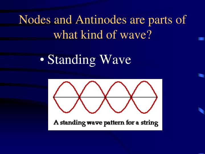 Nodes and Antinodes are parts of what kind of wave?