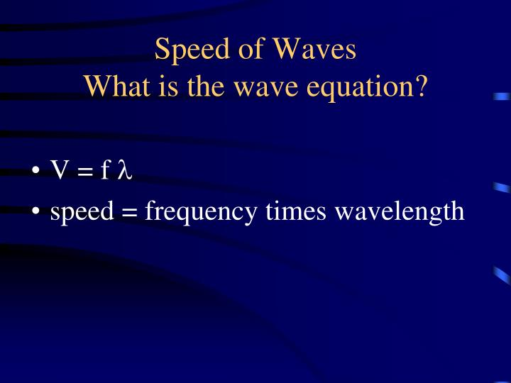 Speed of Waves