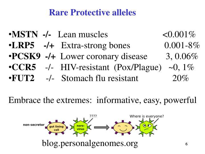 Rare Protective alleles