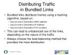 distributing traffic in bundled links