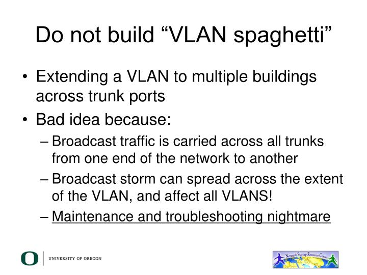 "Do not build ""VLAN spaghetti"""