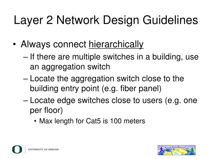 Layer 2 Network Design Guidelines