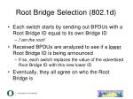 root bridge selection 802 1d