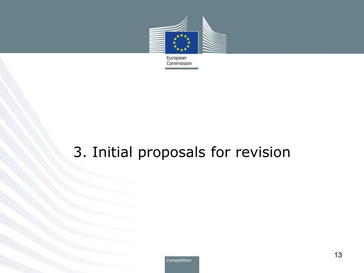 3. Initial proposals for revision