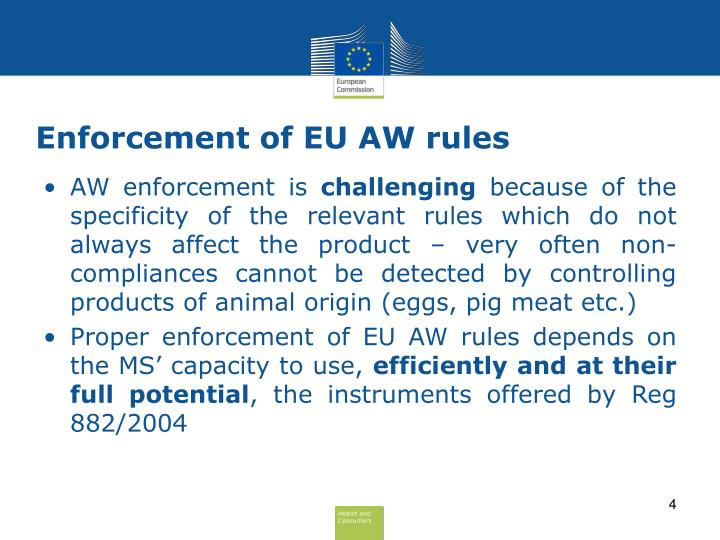 Enforcement of EU AW rules