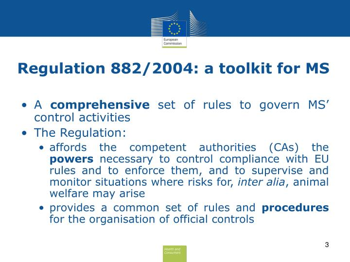 Regulation 882 2004 a toolkit for ms