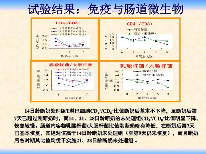 试验结果:免疫与肠道微生物