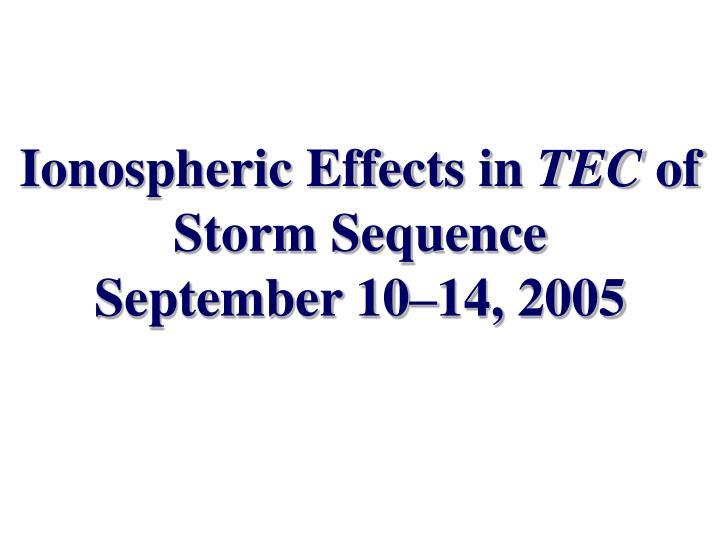 Ionospheric Effects in