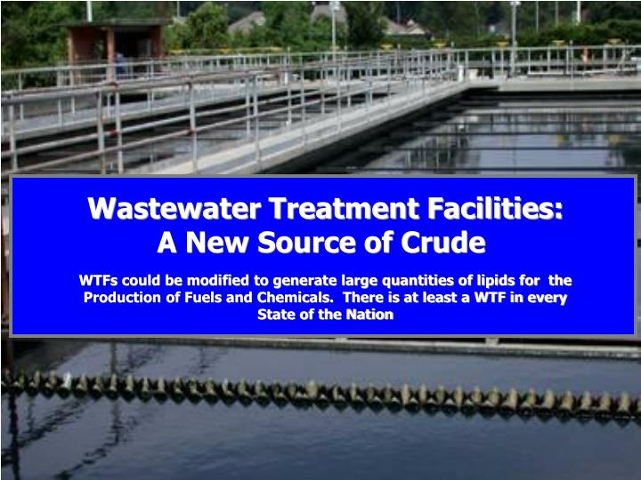 Wastewater Treatment Facilities: