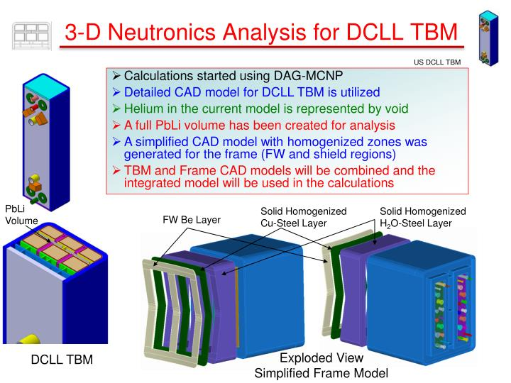 3-D Neutronics Analysis for DCLL TBM