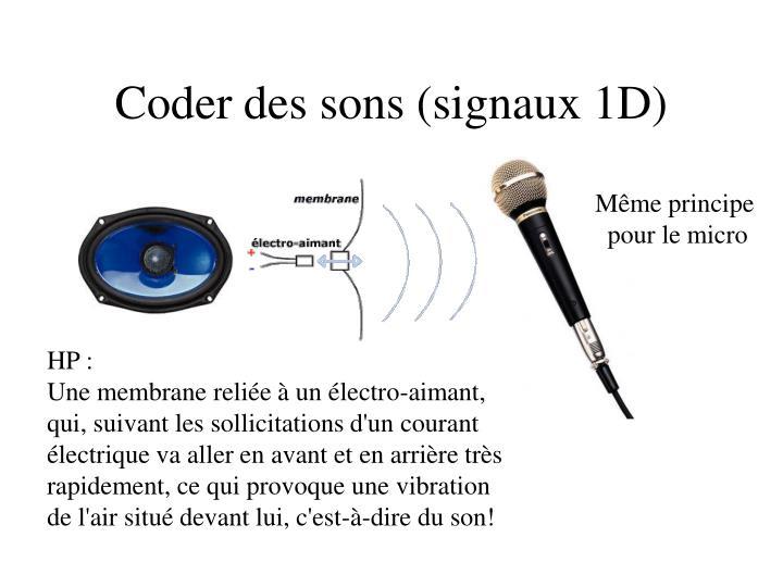 Coder des sons (signaux 1D)