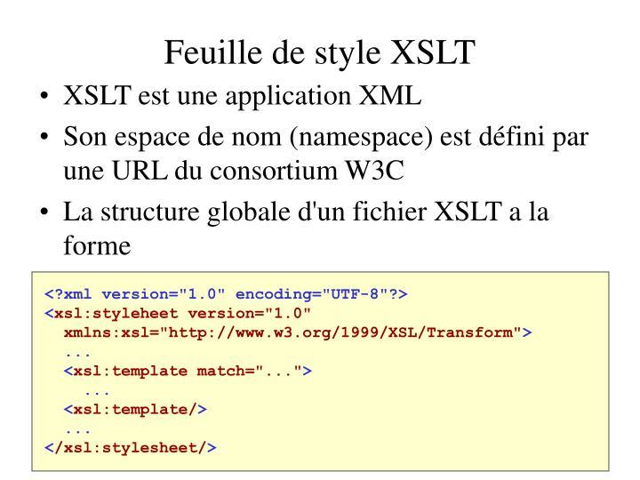Feuille de style XSLT