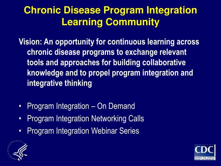 Chronic Disease Program Integration Learning Community