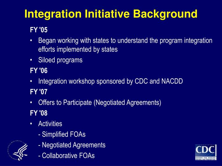 Integration Initiative Background
