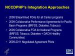 nccdphp s integration approaches
