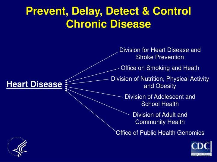 Prevent, Delay, Detect & Control Chronic Disease