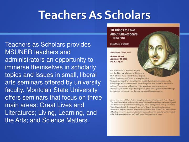 Teachers As Scholars