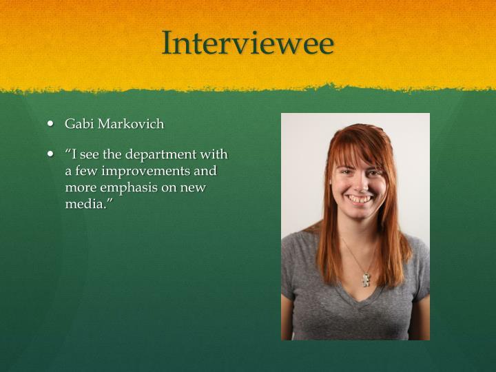 Interviewee