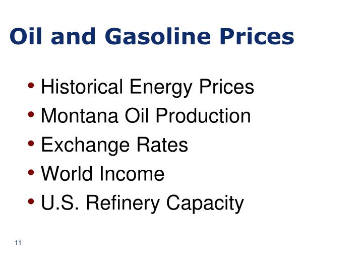 Oil and Gasoline Prices