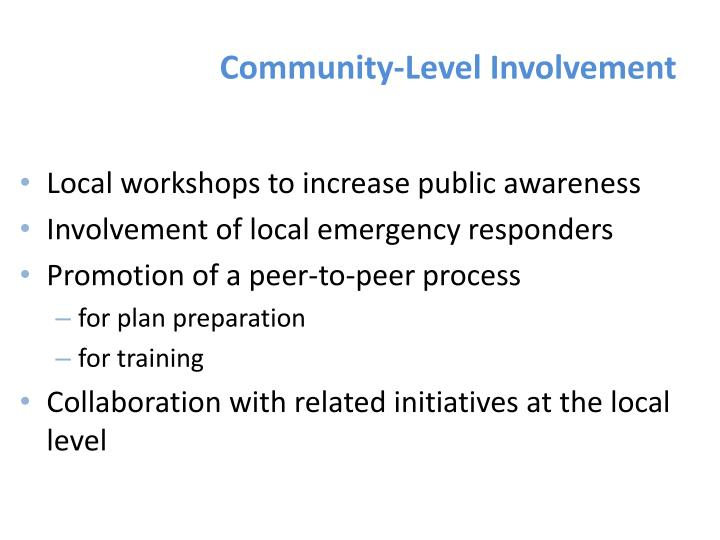 Community-Level Involvement