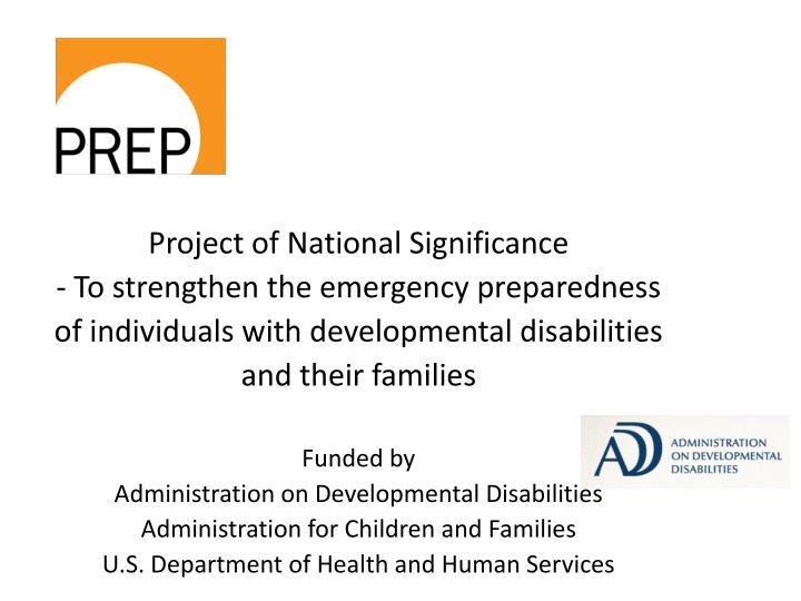 Project of National Significance