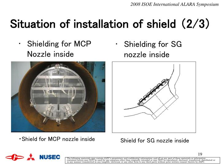 Shielding for MCP Nozzle inside