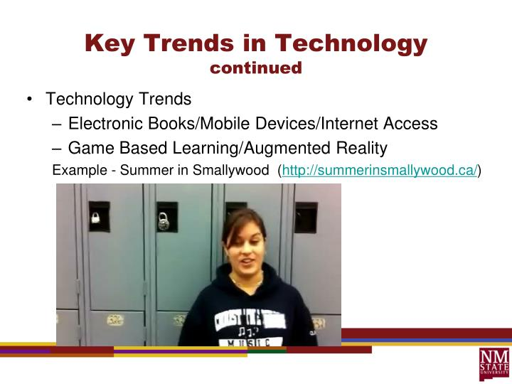 Key Trends in Technology