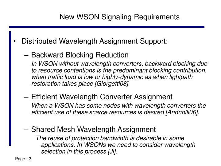 New WSON