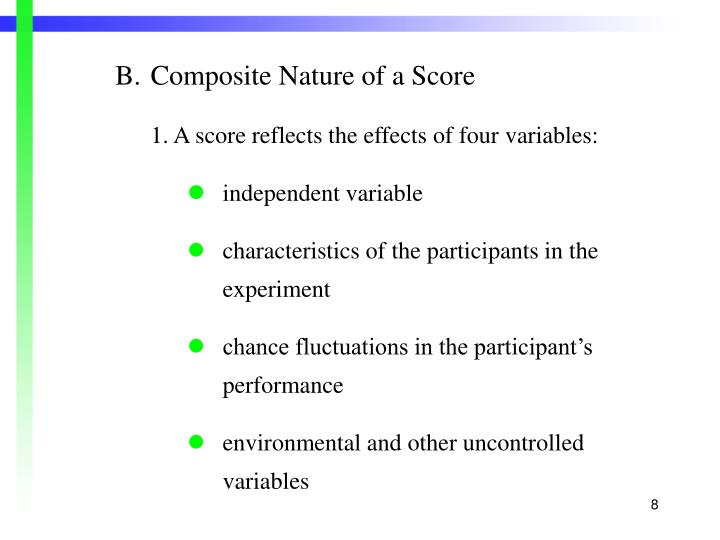 B.Composite Nature of a Score