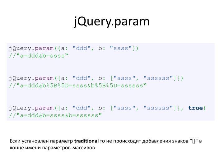 jQuery.param