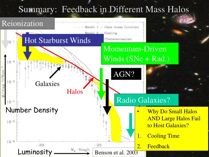 Summary:  Feedback in Different Mass Halos